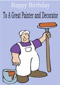 Painter and Decorator - Greeting Card